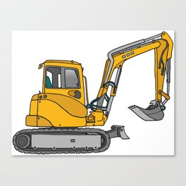 Digger excavators dredger Canvas Print