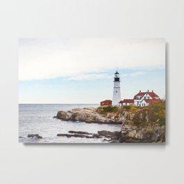 Protecting Portland ~ Port Head Lighthouse Metal Print