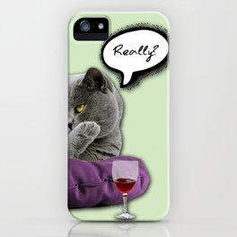 DRUNKY CAT iPhone Case