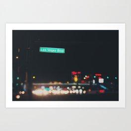 Las Vegas Boulevard ... Art Print