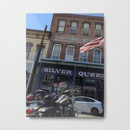 Silver queen Virgina city Nevada Metal Print