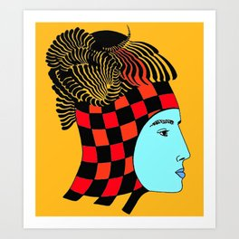 The Checkered Lady Art Print