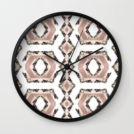 Fruit Diamonds Photographic Pattern #2 Wall Clock