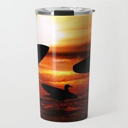 Sunset Surfers Travel Mug