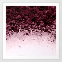 crystals Art Prints featuring Burgundy CrYSTALS by 2sweet4words Designs