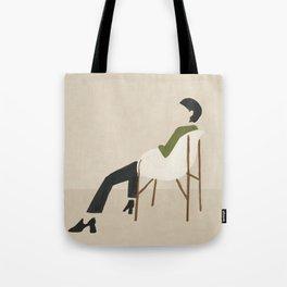 Eames Chair Woman Tote Bag