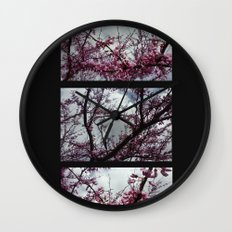 Under the trees: early spring Wall Clock