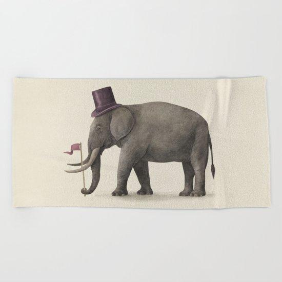 Elephant Day  Beach Towel