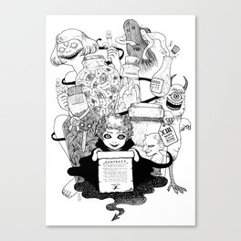 The Filthy Devil's Minion Canvas Print