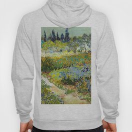 1888-Vincent van Gogh-Garden at Arles, Flowering Garden with Path-88x102 Hoody