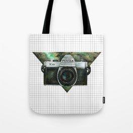 Pentax K1000 (Green Nebula) Tote Bag