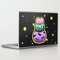 pastel goth Laptop & iPad Skins featuring Pastel Goth Pumpkin Stack by MagicCircle