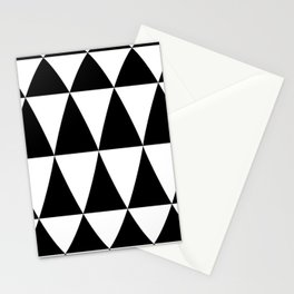Triangle waves and swirls Stationery Cards