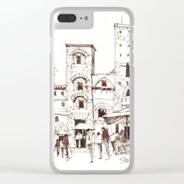 San Gimignano 1 Clear iPhone Case