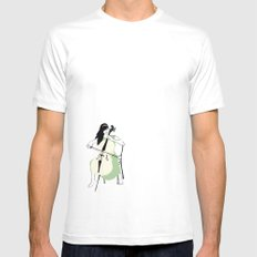 Celloist Mens Fitted Tee MEDIUM White