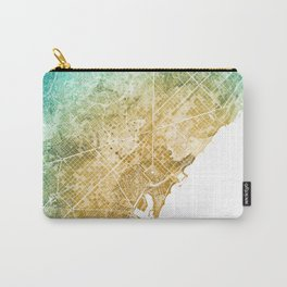 Barcelona Watercolor Map #1 Carry-All Pouch
