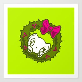 Skribbles: Peek at the holidays Art Print
