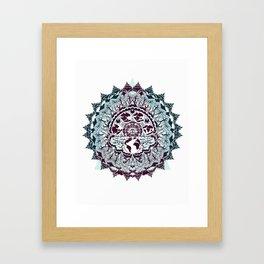 evolution of earth mandala Framed Art Print
