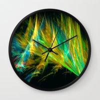 the shining Wall Clocks featuring Shining by Art-Motiva