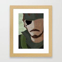 The Big Boss - Metal Gear Solid 3: Snake Eater Framed Art Print