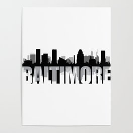 Baltimore Silhouette Skyline Poster