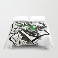 one piece Duvet Covers featuring One Piece - Zoro by RISE Arts
