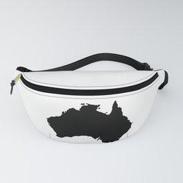 Australia Black Silhouette Map Fanny Pack