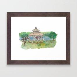Gazebo At The Landing Framed Art Print