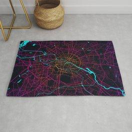 Berlin City Map of Germany - Neon Rug