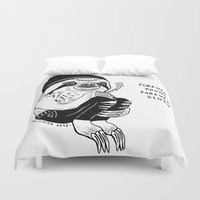 forever young Duvet Covers featuring FOREVER YOUNG by Shaltmira