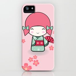 Kokeshi doll - Keiko e Usagi iPhone Case