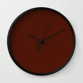 French Puce - solid color Wall Clock