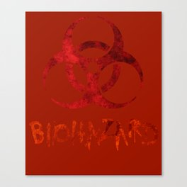 Biohazard symbol Canvas Print