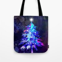 christmas tree Tote Bags featuring Christmas Tree by tscreative