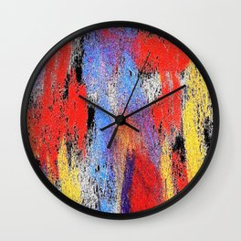 Multicolor pp Wall Clock