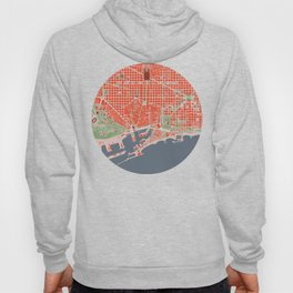 Barcelona city map classic Hoody