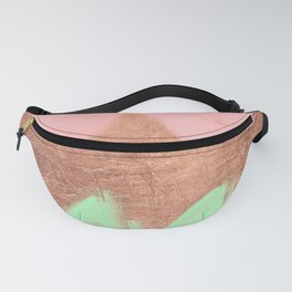 Geometric Pastel Pink Neo Mint Watercolor Rose Gold Chevron Fanny Pack