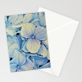 Blue Hydrangea - Each Day I Love You More - By HSIN LIN Stationery Cards