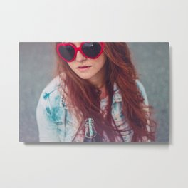 Brazilian Red Hair Girl Metal Print
