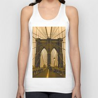 brooklyn bridge Tank Tops featuring Brooklyn Bridge by Félix Pagaimo