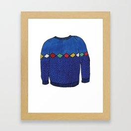Season 2, Episode 11 (full sweater) Framed Art Print
