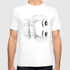 I see you White Mens Fitted Tee MEDIUM