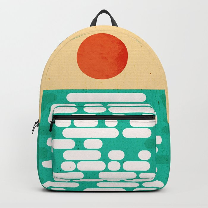 Sun over the sea Backpack