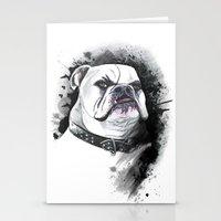 bulldog Stationery Cards featuring Bulldog by kitara