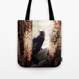 morning on the windowsill Tote Bag