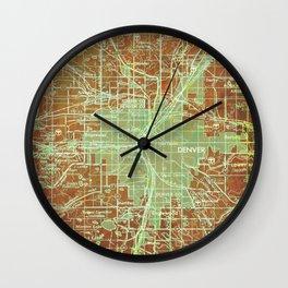 12-Denver Colorado 1958, America cities maps Wall Clock