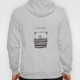 I love muffins with words Hoody