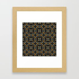 Gold and Silver Interwoven Pattern Framed Art Print