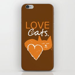 Love cats iPhone Skin