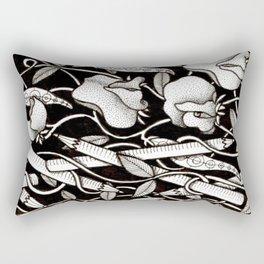 Sweetpeas and Pencils Rectangular Pillow